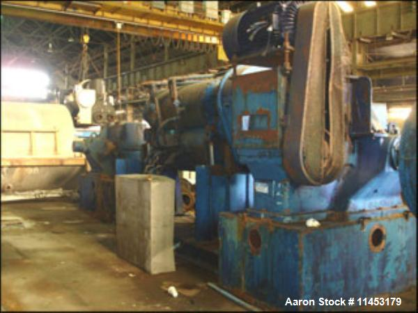 Used-Aaron Process Double Arm Mixer, 500 gallon working capacity, stainless steel construction, tangential sigma blades, jac...