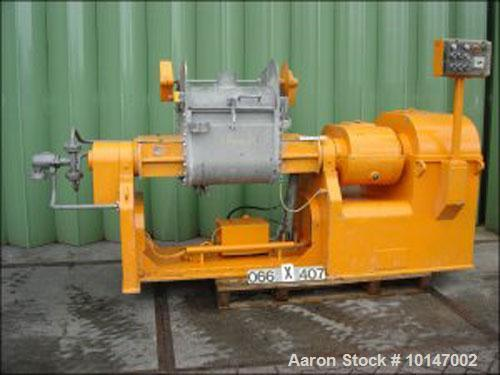 Used- AMK Z-blade mixer, II U-110, serial No. 12099, new 1981, in stainless steel, capacity 110 liter (29 gallon), size 595 ...