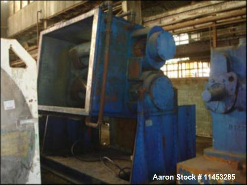 Used- Aaron Process Equipment Double Arm Mixer, 500 Gallon.