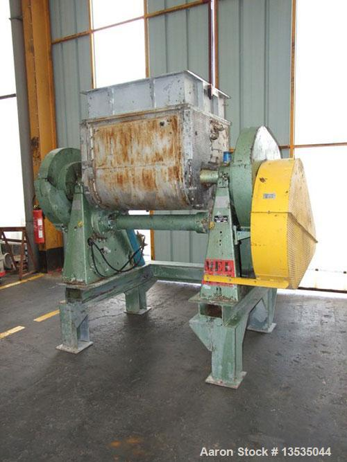 Used-Guittard M57 Double Arm Z-Blade Mixer, carbon steel, 132 gallon (500 liter) total capacity, 92.5 gallon (350 liter) wor...