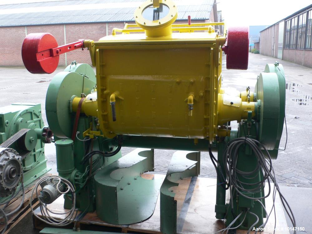 Used- Guittard Double Arm Mixer, Model M57L, 92.6 Gallon (350 liter) Working Capacity, 500 Liter (132.3 Gallon) Total. Jacke...