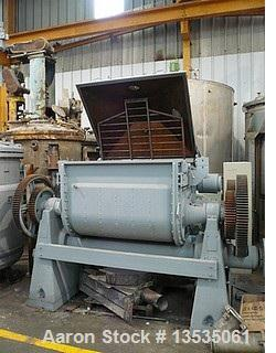 Used-Guittard M58 Double Z Mixer with tilting outlet.  Maximum capacity 198 gallons (750 liters).  Motor 75 hp, 50 hz.