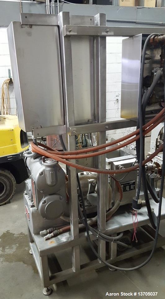 Used- 0.75 Gallon Littleford Day Mogul Sanitary, Jacketed Sigma Blade Mixer.