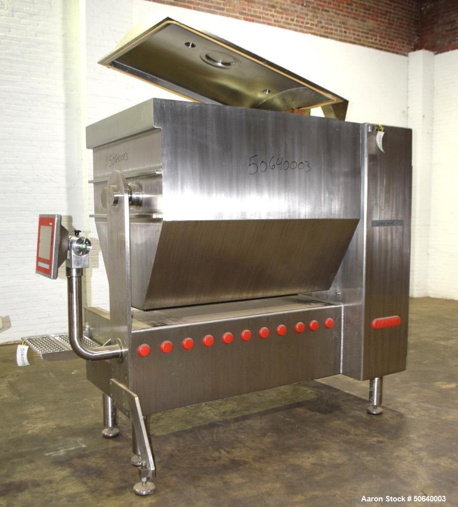 Used- Laska Industrial Vacuum Double Arm Mixer, Model ME 1000 ZNVUX, Stainless Steel. Mixing hopper 1000 liters (264 gallon)...