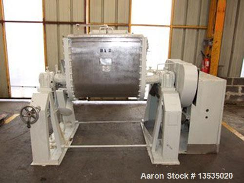 Used-Olsa Z-blade mixer, stainless steel, working capacity 119 gallons (450 liter), total capacity 159 gallons (600 liter), ...