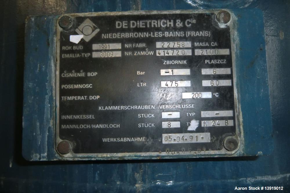 Used- DeDietrich & Cie Glass Lined Double Cone Dryer