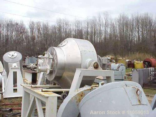Used-30 Cubic Foot Gemco Stainless Steel Double Cone Blender