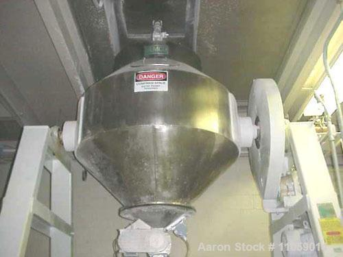 Used- Gemco Double Cone Blender, 30 Cubic Foot