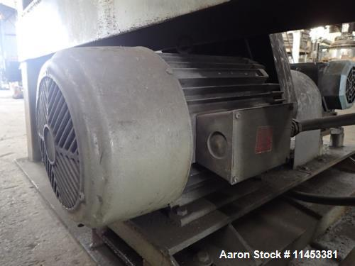 Used- Gemco 60 Cubic Foot Double Cone Mixer. Stainless steel construction (product contact areas), rated at 350 lbs per cubi...
