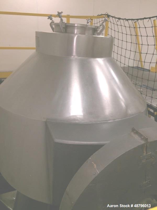 Used- Gemco 70 Cubic Foot Slant Cone Stainless Steel Blender