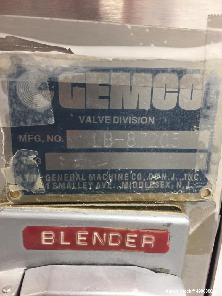 Used- Gemco Stainless Steel V-Blender, 1 Cubic Foot Capacity