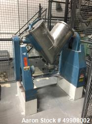 Used- Patterson-Kelley Twin Shell Dry V-Blender, 3 Cubic Foot Capacity, Stainless Steel.  60 Pounds per Cubic Foot Maximum M...