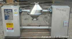 Used- Stainless Steel Gemco Lab Size Slant Cone Blender, 4 quart (0.13 cubic feet) working capacity, model GLB04