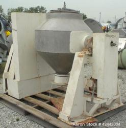Used- Stainless Steel Gemco Double Cone Blender, 10 cubic feet