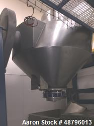 Used- Gemco 70 Cubic Foot Slant Cone Stainless Steel Blender