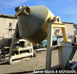 Used- Gemco double cone blender, 100 cubic feet working capacity (approximately