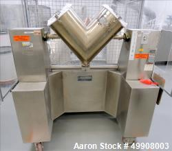 Used- Gemco Stainless Steel V-Blender, 3 Cubic Foot Capacity
