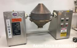Used- Gemco Double Cone Blender, Model Lab Blender, 16 and 8 Quart Capacity