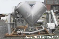Used- Patterson-Kelley 40 Cubic Feet Twin Shell Blender.