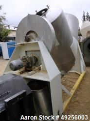 Used- Patterson-Kelley Twin Shell Blender, Approximate 50 Cubic Feet, 304 Stainl