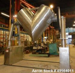 Used- Patterson Kelley Twin Shell Dry V-Blender. 125 Cubic Foot