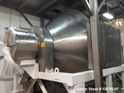 Used- Munson Mixer, Model 700-75. 75 cubic ft. Stainless Steel. Homogenizing mixer capable of 100 percent uniform particle d...