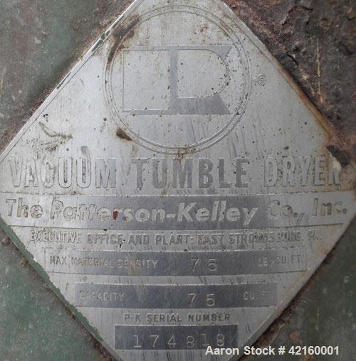 Used- Stainless Steel Patterson-Kelley Twin Shell Vacuum Tumble Dryer