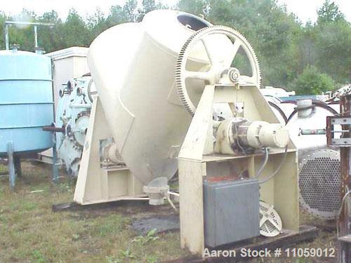 Used- Stainless Steel Patterson Kelley 75 Cubic Foot Twin Shell Blender