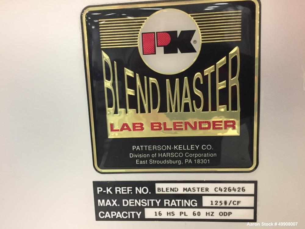 Used- Patterson-Kelley Blend Master Lab V-Blender, 16 Quart Capacity,