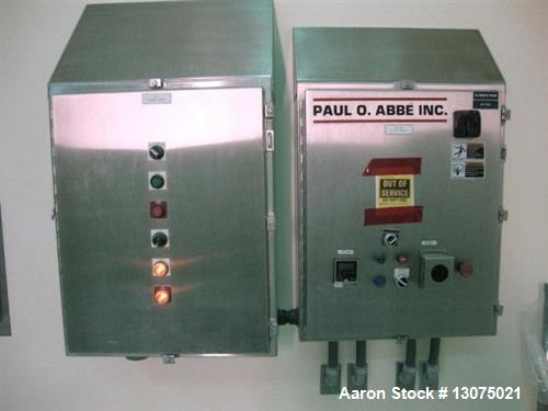 Used- Paul O Abbe RCB-54 Rota-Cone Blender. 316L stainless steel (product contact areas). 83 cu/ft total capacity, 54 cu/ft ...