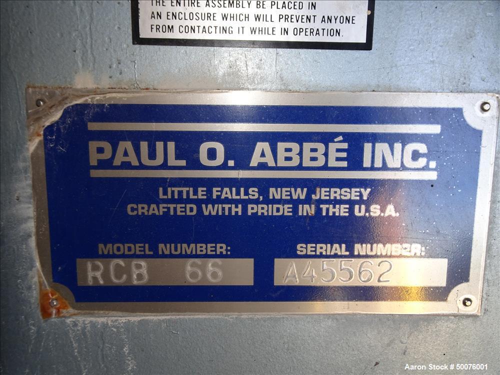 Used- Paul O. Abbe Model RCB-66 Rota-Cone Blender.