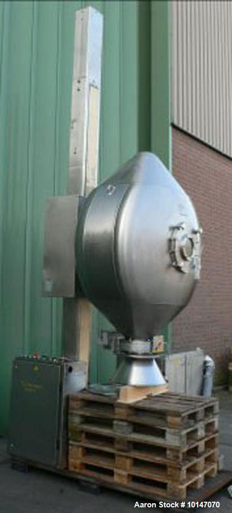 Used- Stainless Steel Servolift/Scholl NG-1200 Tumble Mixer System