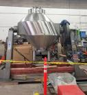Used- Gemco Double Cone GemcoMatic Blender, Offset / Slant Blender.