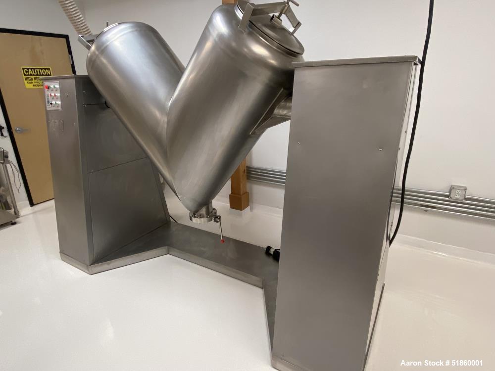"Used-Shanghai Tianfan Pharmaceutical Machinery Factory Twin Shell Dry ""V"" Mixer"