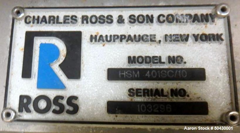 Used- Charles Ross High Shear Mixer, HSM 401SC/10