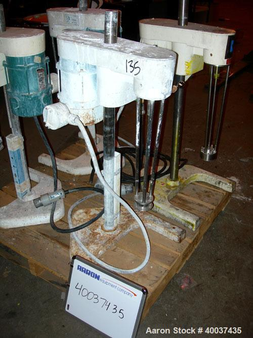 """Used- Ross Mixer Emulsifier, Model Lab, stainless steel. 1-20 liter batch capacity. 0-10,000 rpm. Approximately 3"""" diameter ..."""