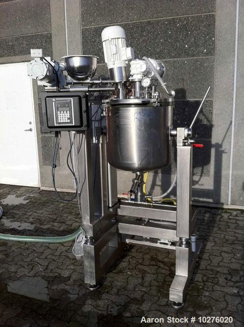 Used-ESCO Labor Mixer/Homogenizer, type EL50. Material of construction is 316L stainless steel (1.4435).Total capacity 2.3 c...