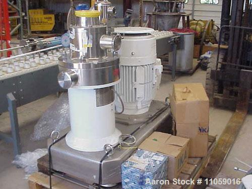 Used-IKA Works Continuous Inline Mixing-Homogenizing-Milling-Dispersing System for powder/solids and liquid, model MHD2000/3...