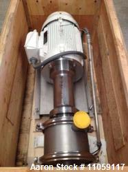 Quadro Y-Tron Model Z5 Multi-row Toothed Rotor-Stator Mixer. (3) Stage unit. Rated up to 300 GPM. S...