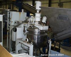 Used- Stainless Steel Tokushukika Kogyco Co Ltd Agi-homo mixer, Model 20-50. 20 Gallon working capacity
