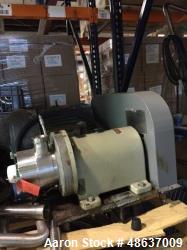Used-Waukesha Cherry-Burrell Stainless Steel Shear Pump, Model SP4.  On a carbon steel stand.