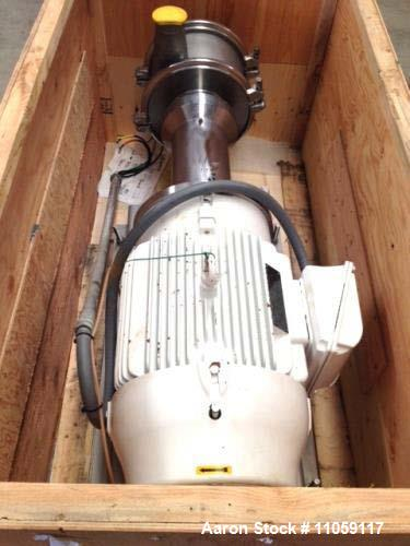 Used- Quadro Y-Tron Model Z5 Multi-row Toothed Rotor-Stator Mixer. (3) Stage unit. Rated up to 300 GPM. Stator gap size in 0...