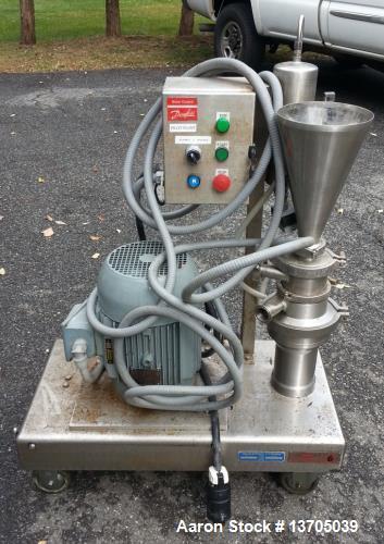 Used- Quadro, Model ZC-1, Ytron Blender. (Similar to Tri-Clover Tri-Blender). Sanitary stainless steel construction, driven ...