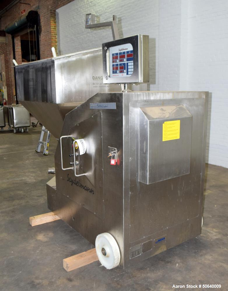 Used-Seydelmann Konti-Cutter, Model KK250AC6V, Stainless Steel.Includes a control panel, tote dumper, and totes. Serial# 121...