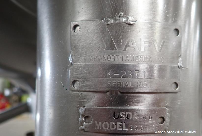 Used- APV Crepaco 300 Gallon Fully Jacketed Liquefier