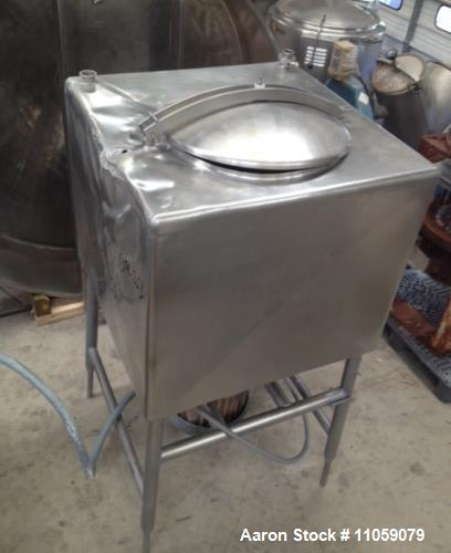 "Used- Breddo 200 Gallon Likwifier, Model LDT. Pancake Style 25 hp motor, 1765 RPM. Including 12"" blade and stainless steel o..."