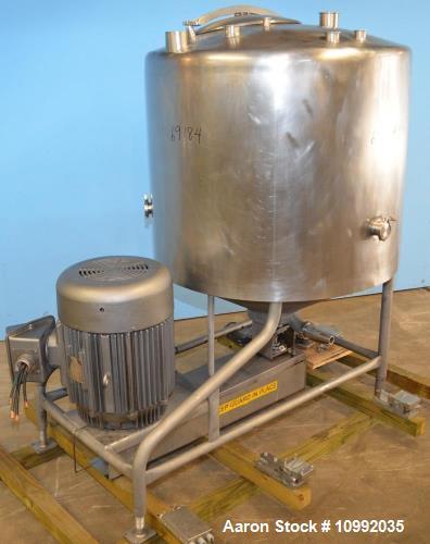 Used- 400 Gallon Breddo, Model LOR, 75 hp Single Shell Stainless Steel Vertical