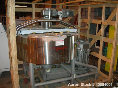 "Unused: Breddo Likwifier, 300 gallon, model LORWWSS, 316 stainless steel. Dimple jacketed chamber 64"" diameter x 21"" straigh..."