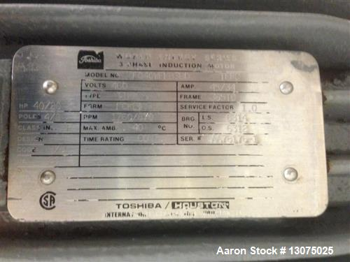 Used- Breddo Likwifier, Model LORW300. Jacket rated to 90 PSI. 316 contact surfaces, 304 stainless steel construction. Appro...