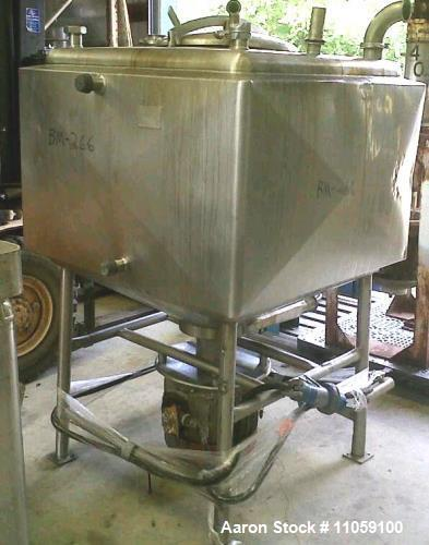 Used- Crepaco 150 Gallon Jacketed Liquifier/Liquefier. Stainless steel, jacket rated 75 PSI. Driven by an approximate 25 HP ...